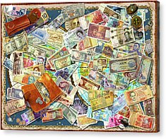 Currency Map Acrylic Print by Garry Walton