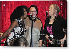 Acrylic Print featuring the photograph Curtis Salgado With Ladya White And Larhonda Steele by Tonia Noelle
