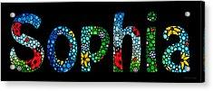 Customized Baby Kids Adults Pets Names - Sophia Name Acrylic Print