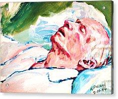 Dad Dying Acrylic Print by Herschel Pollard