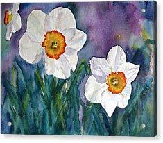 Acrylic Print featuring the painting Daffodil Dream by Anna Ruzsan
