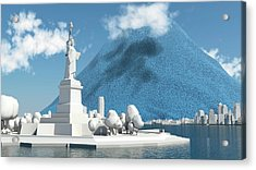 Daily Global Co2 Emissions Acrylic Print