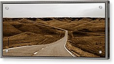 Acrylic Print featuring the photograph Dakota Highway 1804 by Thomas Bomstad