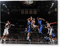 Dallas Mavericks V San Antonio Spurs - Acrylic Print