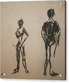 Dancing  Acrylic Print by Elena Svobodina