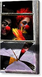 Dark Carnival Clowns Acrylic Print