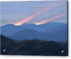Dawn Of Gatlinburg Acrylic Print by Nian Chen