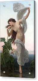 Dawn Acrylic Print by William Adolphe Bouguereau