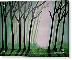 Day Light In Dark Forest Acrylic Print by Jnana Finearts