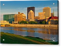 D4u-379 Dayton Skyline Photo Acrylic Print