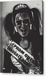 Dead Prom Queen At High School Reunion  Acrylic Print by Jorgo Photography - Wall Art Gallery
