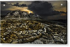 Dead Sea Sink Holes Acrylic Print by Dan Yeger