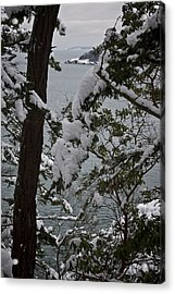 December's Point Acrylic Print by Tom Trimbath