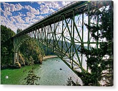 Deception Pass Acrylic Print by Spencer McDonald