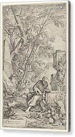 Democritus In Meditation Acrylic Print