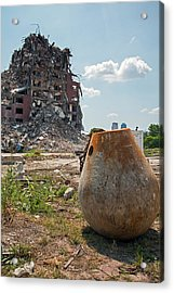 Demolition Of Detroit Housing Towers Acrylic Print