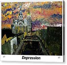 Depression  Acrylic Print by Mark Moore