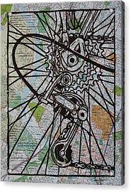 Derailluer On Map Acrylic Print