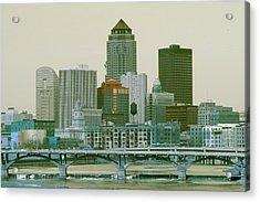 Des Moines Cityscape  Acrylic Print