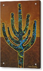Acrylic Print featuring the painting Desert Brown by Lance Headlee