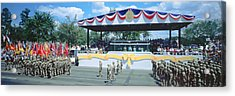 Desert Storm Victory Military Parade Acrylic Print by Panoramic Images