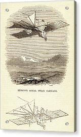 Design For The Aerial Steam Carriage Acrylic Print