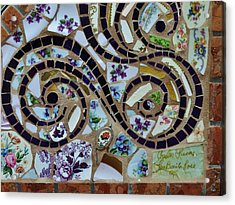 Detail Mosaics Acrylic Print by Charles Lucas