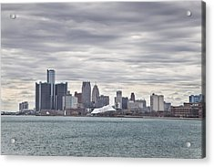 Detroit Skyline From Belle Isle Acrylic Print