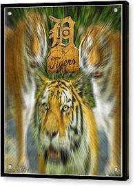 Detroit Tigers Baseball Acrylic Print