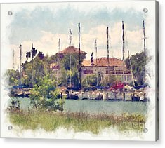 Detroit Yacht Club Acrylic Print by Phil Perkins