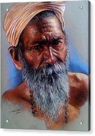 Devotee Acrylic Print by Arti Chauhan