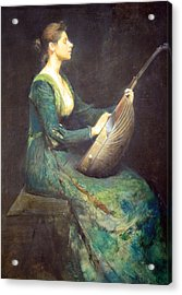 Dewing's Lady With A Lute Acrylic Print by Cora Wandel