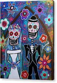 Dia De Los Muertos Wedding Acrylic Print