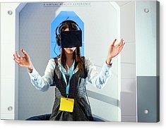 Diabetes Virtual Reality Demonstration Acrylic Print by Dan Dunkley