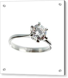 Diamond Ring Acrylic Print by Science Photo Library