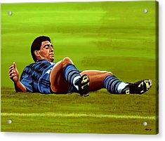 Diego Maradona 2 Acrylic Print by Paul Meijering