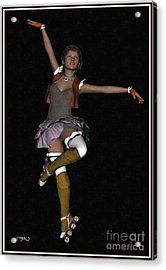 Ballet On Skates 1bos1 Acrylic Print by Pemaro