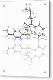 Diltiazem Drug Molecule Acrylic Print by Laguna Design/science Photo Library