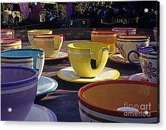 Disneyland Rides Mad Tea Party Ride Anaheim California Usa Acrylic Print