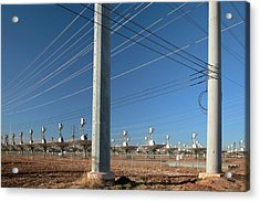 Disused Solar Power Plant Acrylic Print by Jim West