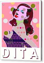 Dita Acrylic Print by Ricky Sencion