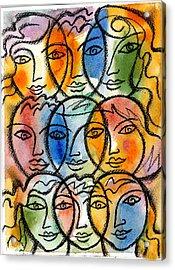 Diversity Acrylic Print by Leon Zernitsky