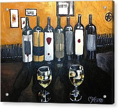 Divine Wine Acrylic Print by Melissa Torres
