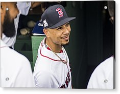 Divisional Round - Houston Astros V Boston Red Sox - Game Four Acrylic Print by Billie Weiss/Boston Red Sox