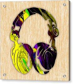 Djs Headphones Acrylic Print