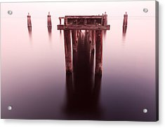 Dock At Twilight Acrylic Print