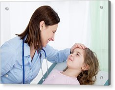 Doctor Caring For Girl Acrylic Print
