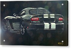 Acrylic Print featuring the painting Dodge Viper 2 by Richard Le Page