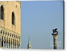 Doges Palace And Column Of San Marco Acrylic Print
