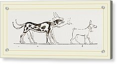 Dogs From Egyptian Paintings Acrylic Print by Litz Collection